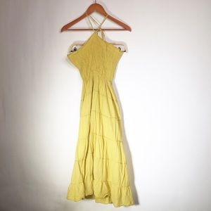 Athleta Small Yellow Halter Top Dress
